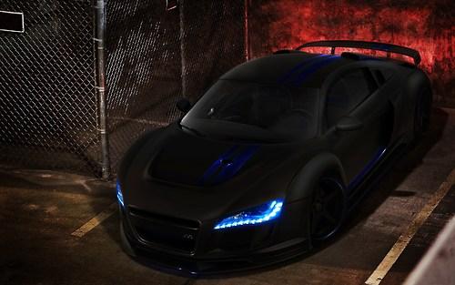 Audi r8 matt black custom