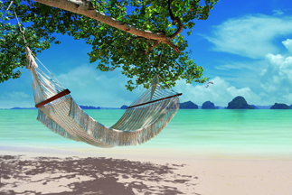Thailand hammock beach